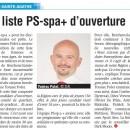 La liste PS-sp.a + est complète – article dans La Capitale