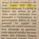 """Survol des avions, le PS dans """"La Capitale"""""""